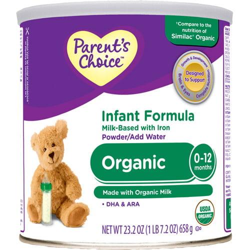Parent's Choice - Organic Milk-Based Powder Formula with Iron, 23.2oz