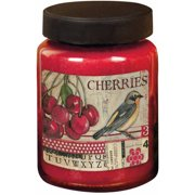 LANG Cherries 26-Ounce Jar Candle, Scented with Tangy Wild Cherries