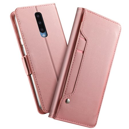 TORUBIA OnePlus 8 Wallet Case, PU Leather Case Full Protective Anti-Scratch Resistant Cover Magnetic Case Slot Case for OnePlus 8 Rose Golden - image 1 of 7