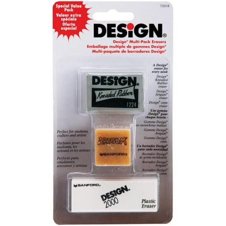 Design Art Erasers 3/pkg-