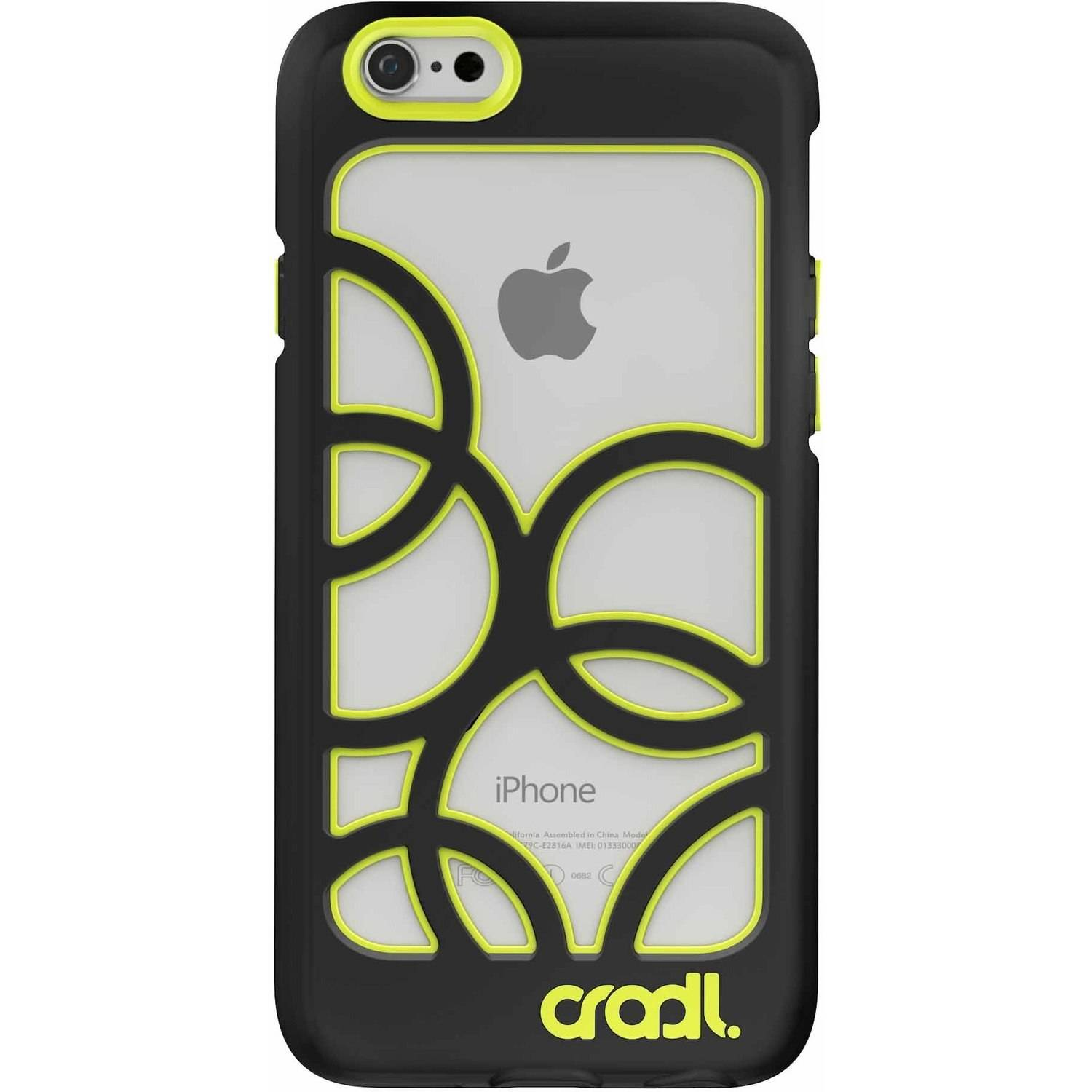cradl. Bubble Phone Case for Apple iPhone 6/6s, Black