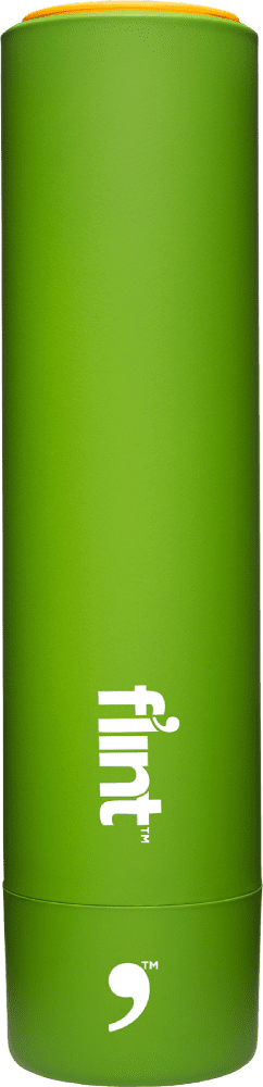 Flint Lint Roller - Retractable/Refillable - Green