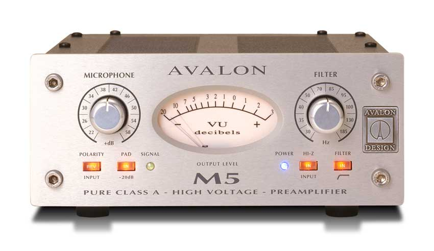 Avalon M5 Pure Class A Microphone Preamplifier Silver by Avalon
