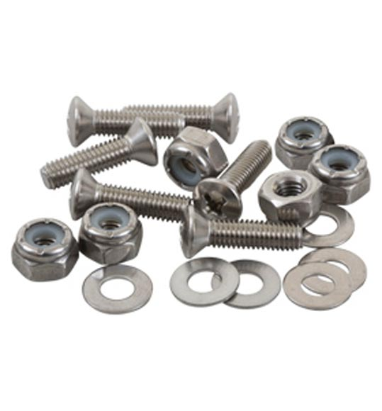 SEA-LECT Designs #10-32 Oval Head 1 Inch Fastener Set (Screw, Nyloc Nut, Washer)