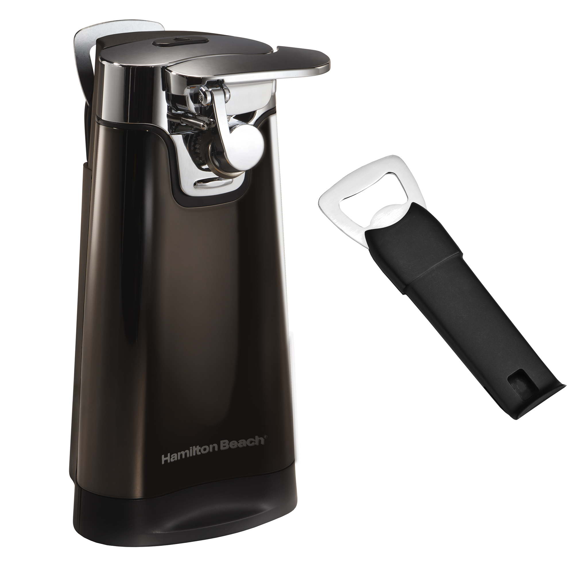 Click here to buy Hamilton Beach Black Ice Metal Collection Countertop Automatic Can Opener 76776 by Hamilton Beach.