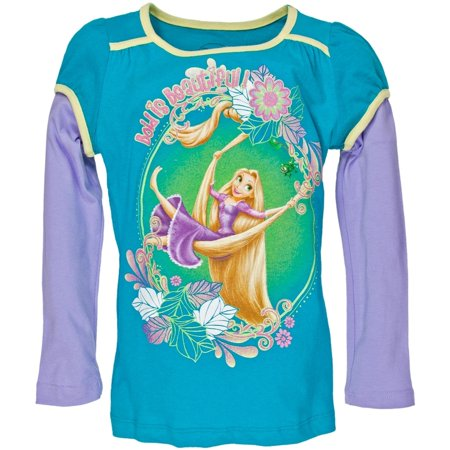 Tangled   Bold Is Beautiful Girls Juvy 2Fer Long Sleeve T Shirt