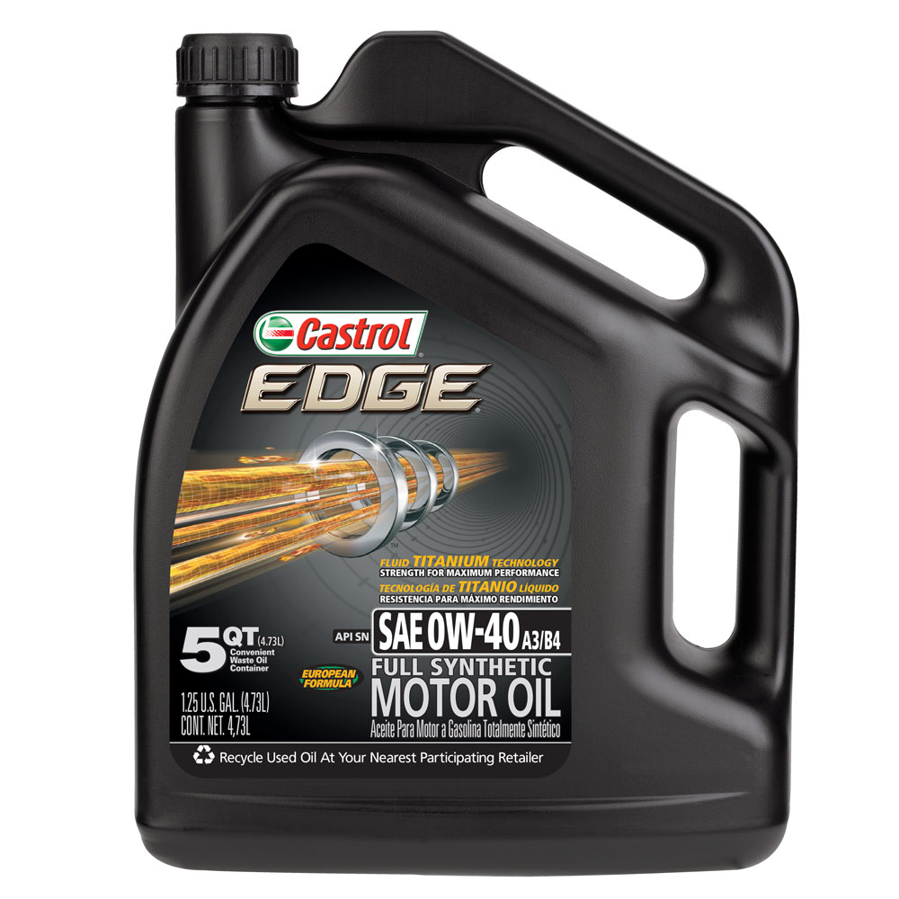 Castrol EDGE 0W-40 Full Synthetic Motor Oil, 5 qt