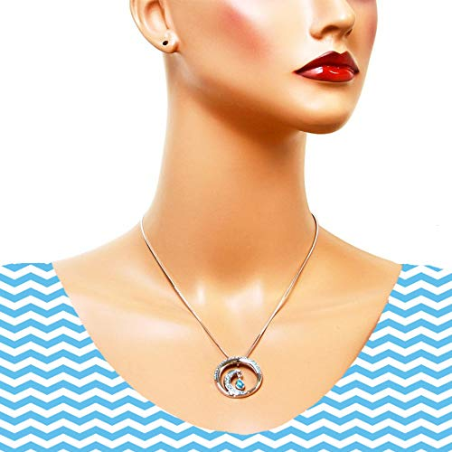 Artistic Fish Necklace Beach Jewelry Aquatic Sea Life Birthday Present or Anniversary Gift for wife Artisan Crafted Nautical Theme Pendant