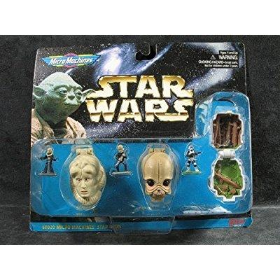 star wars micro machines mini head action collection iv: bib fortuna, figrin d'an, scout trooper