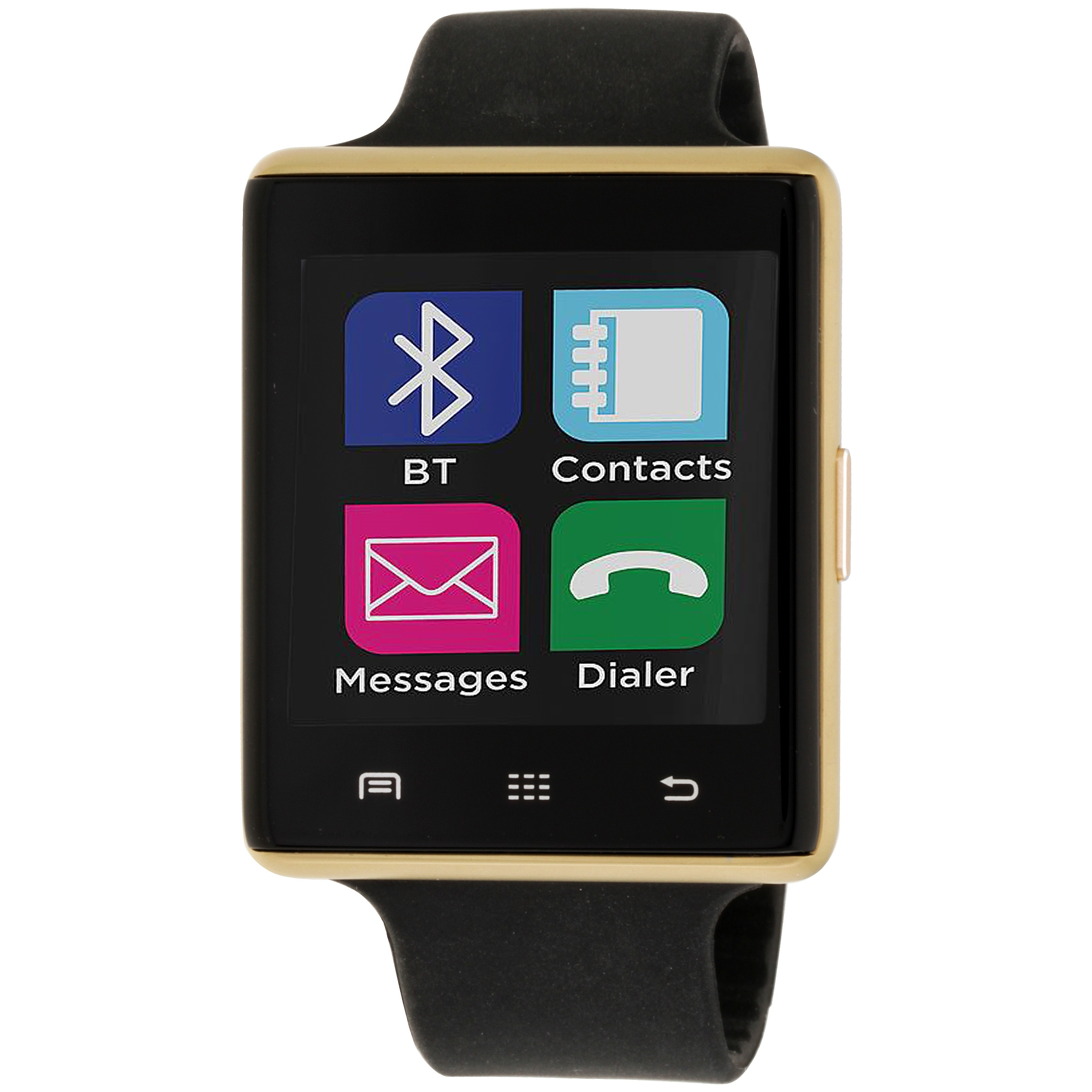 iTouch - iTouch Air 2 Smartwatch 45mm Gold Case with Black