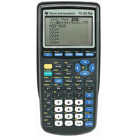 Texas Instruments TI-83 Plus Programmable Graphing Calculator, 10-Digit LCD