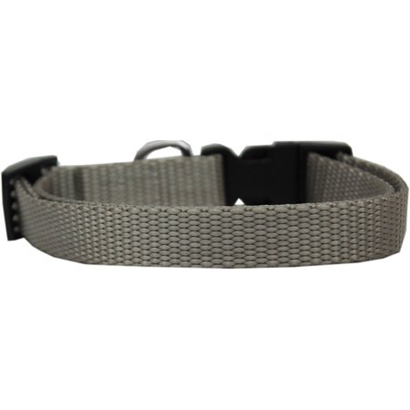 "Nylon Cat Safety Adjustable Breakaway Collars 6 to 10 inch x 3/8"" 16 Colors USA (Silver)"