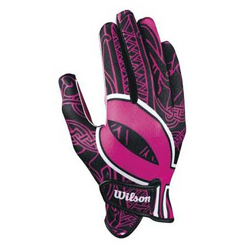 Wilson Adult Receiver Gloves with BCRF Ribbon