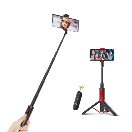 BW-BS10 All In One Portable Hidden Phone Clamp  Selfie Stick with Retractable Tripod  Remote Control Travel Accessories - image 5 de 7