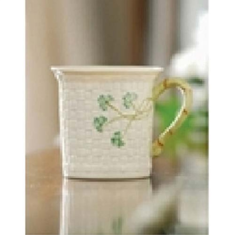 Belleek Shamrock Mug, 11 oz.