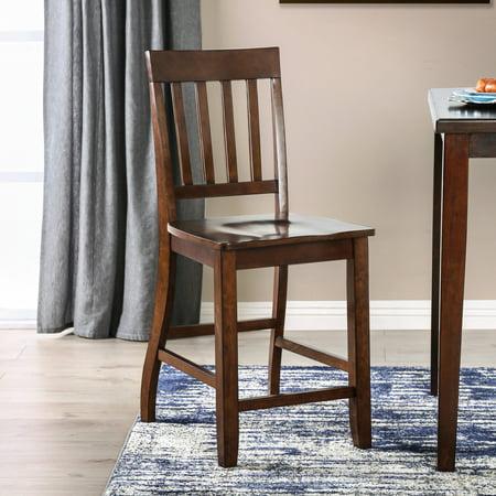 Furniture of America  Ralphie Dark Oak Counter Height Chairs (Set of