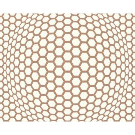 LARS_CONTZEN_3 - Modern Abstract Colorful White, Brown Wallpaper Sample - image 1 de 1