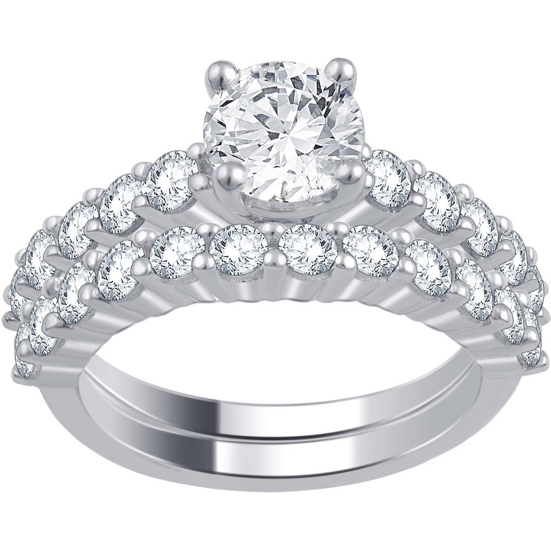 2.00 Carat T.W. Diamond 14kt White Gold Bridal Set by Generic
