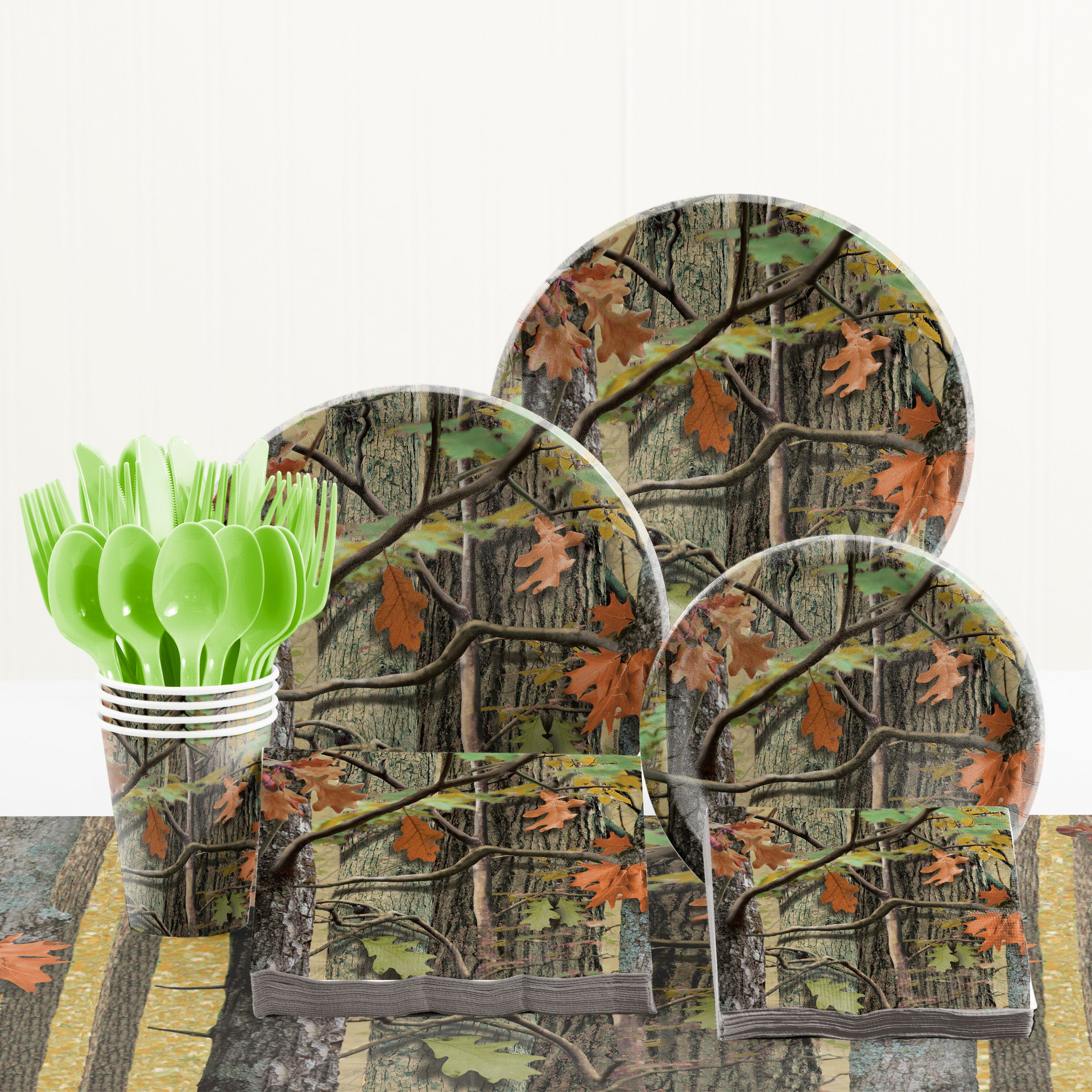 Hunting Camo Birthday Party Supplies Kit