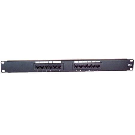 IEC PP10812 Patch Panel 12 Port CAT 5e 568B (1U)