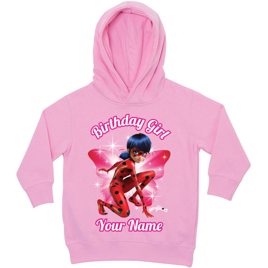 Personalized Miraculous Birthday Girl Pink Toddler Hoodie