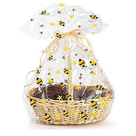 5pack Bumble Bee Gift Wrap Packaging Cellophane Bags
