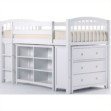 School Storage Junior Loft White