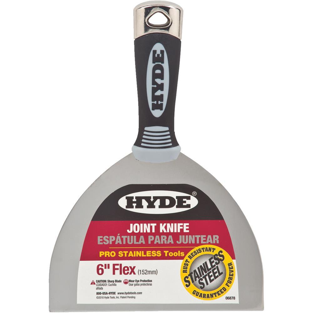 "Hyde 4-1/4""L, 8-7/16"", Joint Knife, Black, 06878"