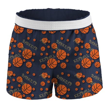 Junior Basketball Printed Shorts, Basketball Print - Extra Small Extra Small Ball