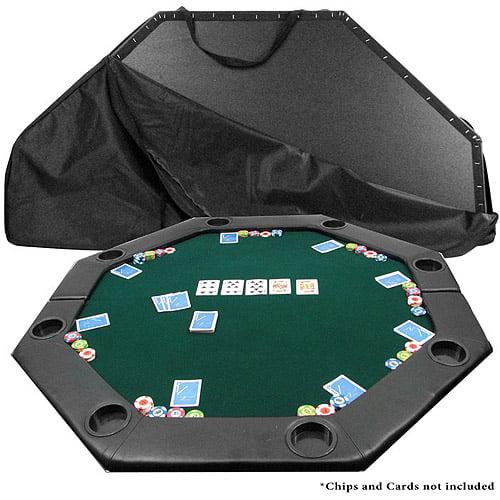 "Trademark Poker 51"" x 51"" Octagon Padded Poker Tabletop, Green"