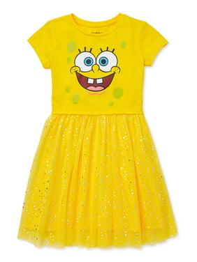 SpongeBob Girls' 4-12 Foil Mesh Tutu Dress