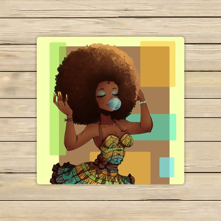 GCKG African Woman Hand Towel,Spa Towel,Beach Bath Towels,Bathroom Body Shower Towel Bath Wrap Size 13x13 inches