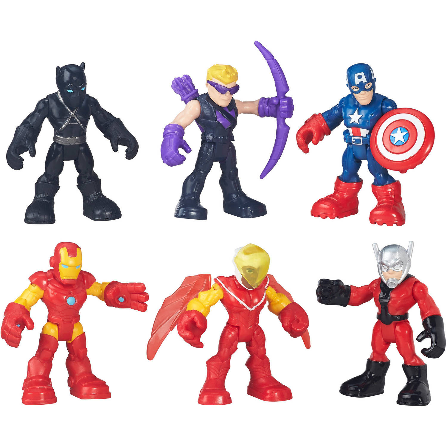 "PlaySkool Heroes CAPTAIN AMERICA 2.5/"" Figure Marvel Avengers Super Hero Squad"