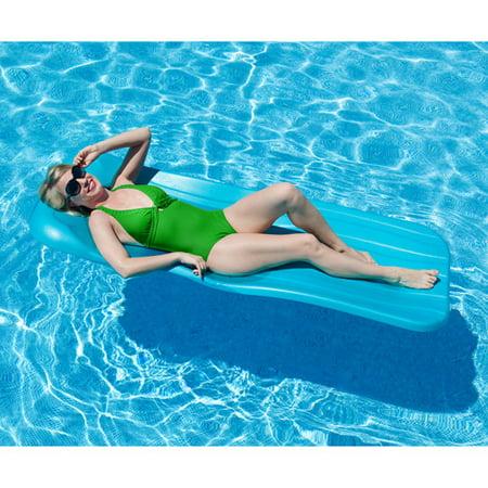 (Aqua Cell Deluxe 1.75-in Thick Cool Pool Float - Aqua)