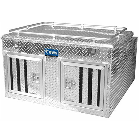 UWS/United Welding Services DB-4848N UWSDB-4848N TWO DOOR DIAMOND PLATE ALUMINUM NORTHERN DOG BOX (48X48 BASE 27IN TALL)
