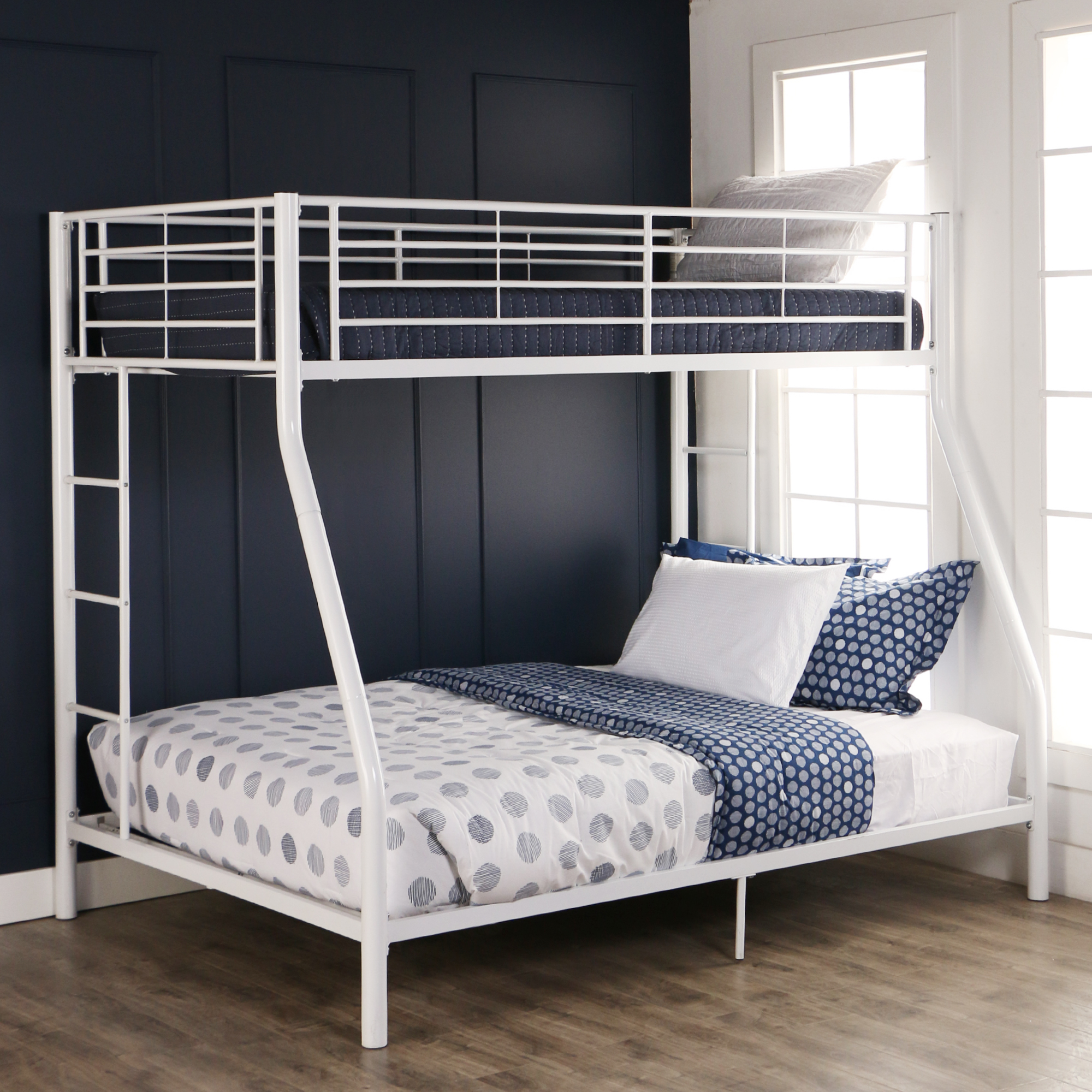 walker edison premium twin over full metal bunk bed multiple colors walmartcom
