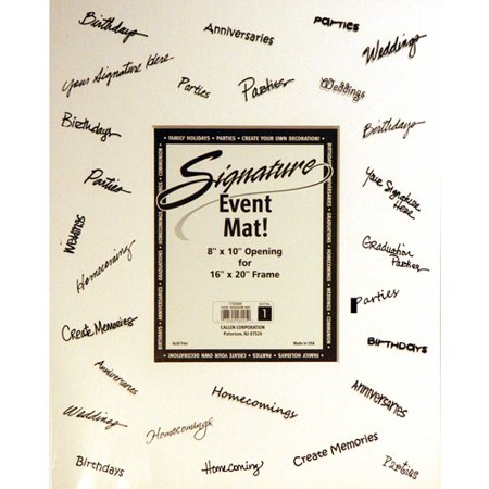 Callen Signature Event Mat 16x20 Picture Frame Holds 8 X 10