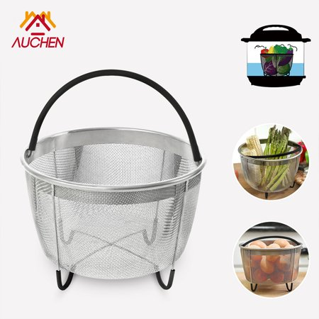 - Instant Pot Steamer Basket with Silicone Handle - AUCHEN Stainless Steel Strainer and Insert fits IP Insta Pot, Instapot 6qt, 8qt or other Pressure Cookers – Suitable for Vegetables, Eggs, Meats, etc