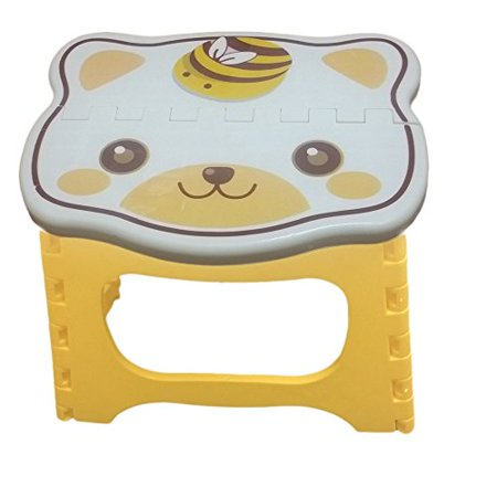 Kids Step Stool 9 inch width by 8 inch tall, Fold able easy to carry. Teddy face on top to add color & fun! - Step By Step Scary Face Painting