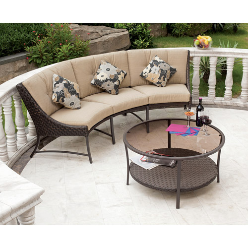 outdoor sectional metal. Perfect Outdoor Savannah Metal And Woven Deep Seating Outdoor Sectional Sofa Set Seats 3 And