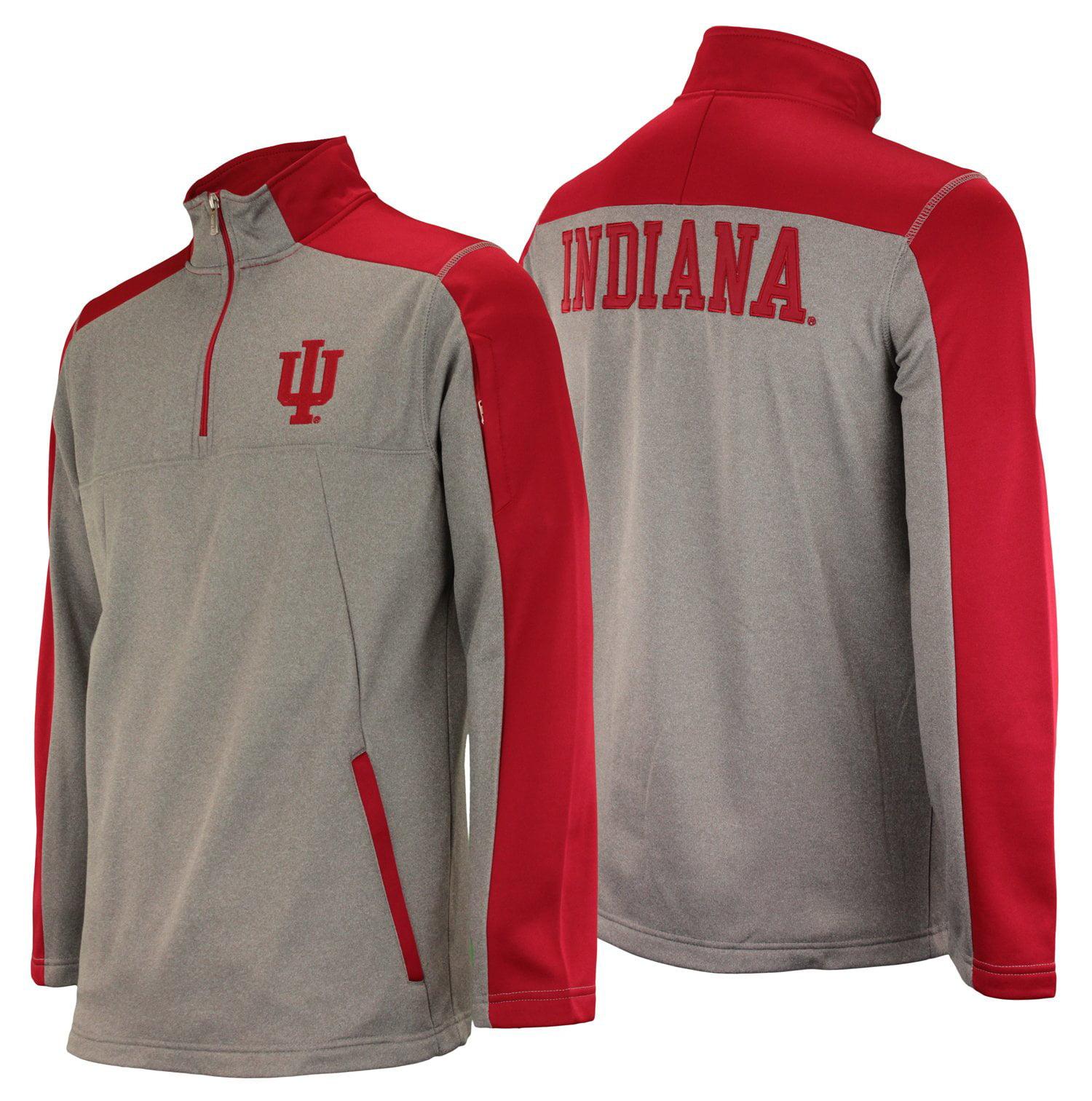 Outerstuff NCAA Men's Indiana Hoosiers Performance Poly Fleece 1/4 Zip Up