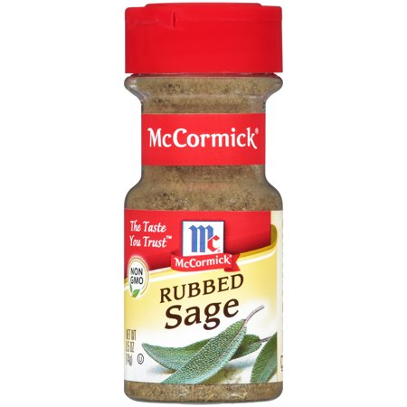 (2 Pack) McCormick Rubbed Sage, 0.5 oz