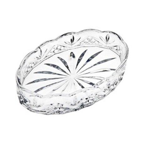 - Dublin Non-Leaded Crystal Oval Scalloped Soap Bar Dish Tray Holder