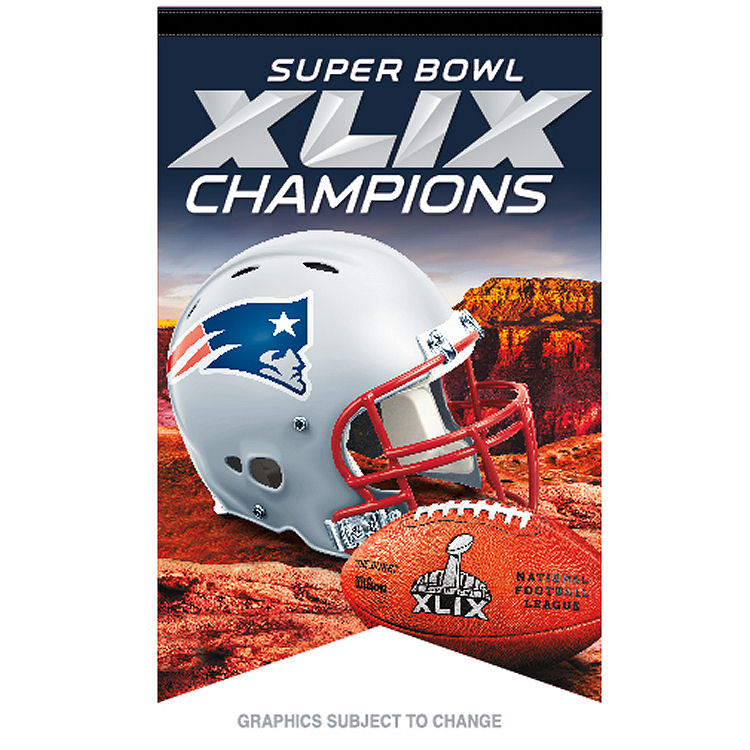 New England Patriots Official NFL 17 inch x 26 inch  Super Bowl 49 Champions Premium Banner Flag by Wincraft
