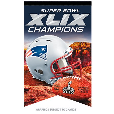 New England Patriots Official NFL 17 inch x 26 inch Super Bowl 49 Champions Premium Banner Flag by Wincraft by