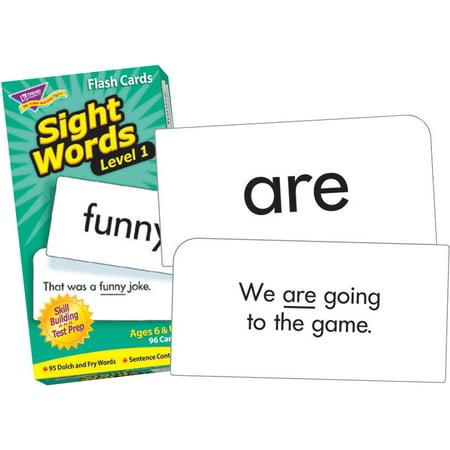 Trend Enterprises Sight Words Level 1 Flash Cards - Set Of - Sight Word Flash Cards