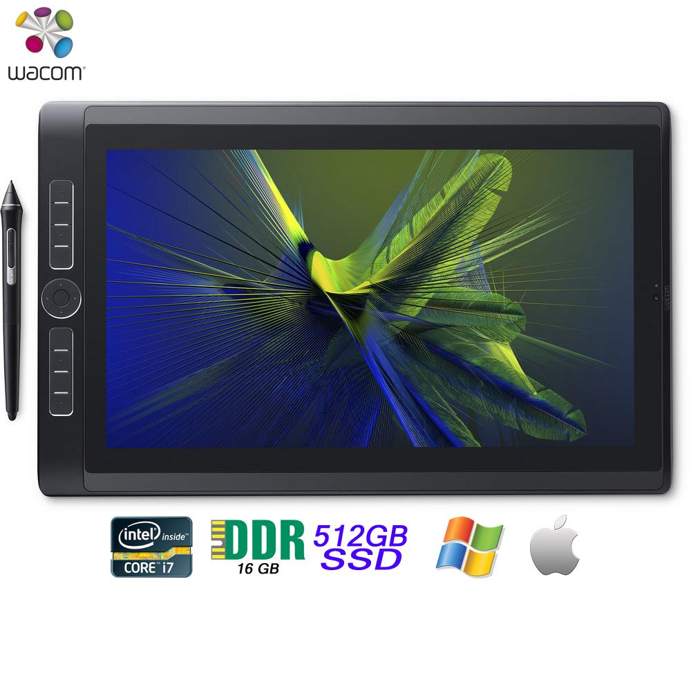 "Wacom MobileStudio Pro 16"" Tablet i7 512GB SSD, Windows 10 DTH-W1620H - (Certified Refurbished)"