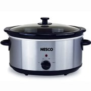 Nesco 6 Qt Oval Analog Slow Cooker (Stainless Steel)