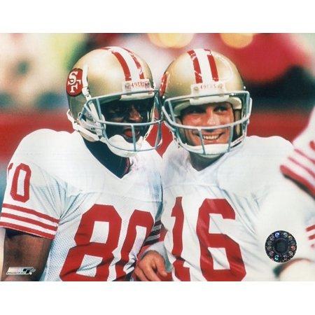 Jerry Rice & Joe Montana Sports Photo (10 x 8) (Jerry Rice Photograph)