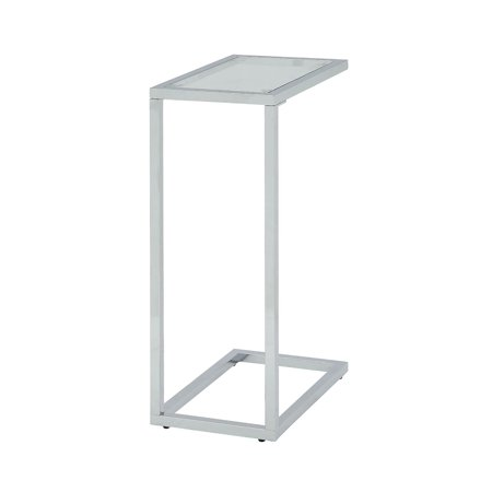Carolina Cottage Glass Top Accent Side Table ()